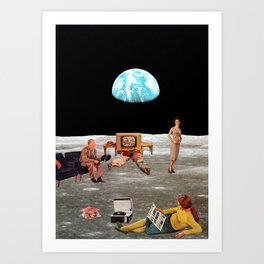 U.S. Lands on Moon Art Print