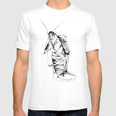 _life like a cockroach White MEDIUM Mens Fitted Tee