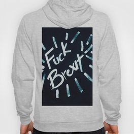 Fuck Brexit Dark Blue & Charcoal Hoody