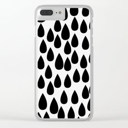 Black drops Clear iPhone Case
