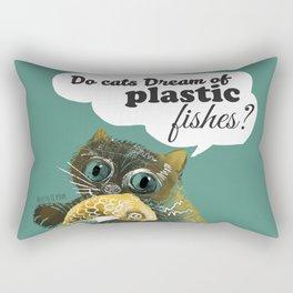 Do cats dream... (c) 2017 Rectangular Pillow