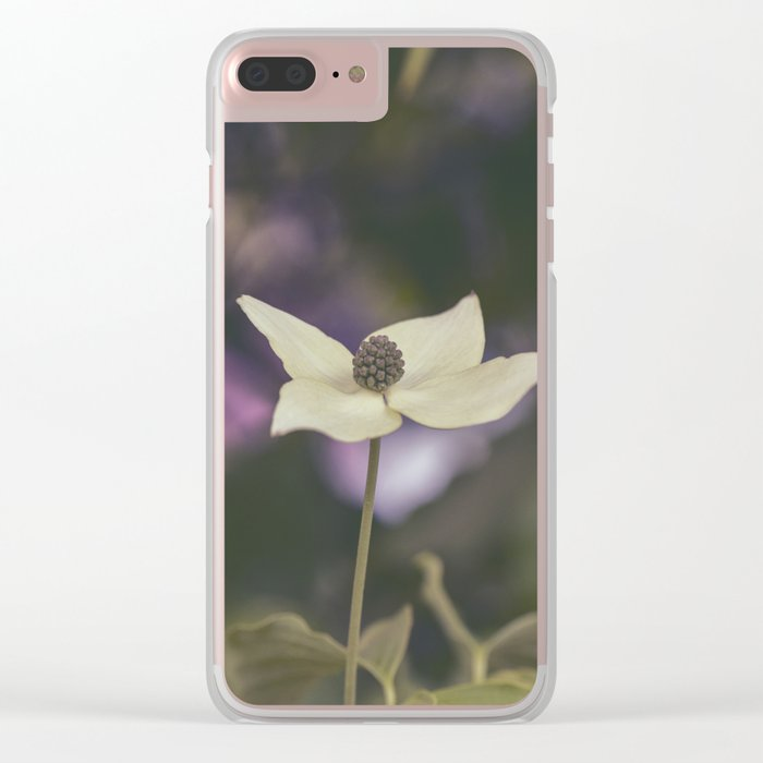 Dogwood Flower Clear iPhone Case