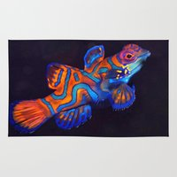 duvet cover Area & Throw Rugs featuring AMAZING CREATURE DUVET COVER by aztosaha