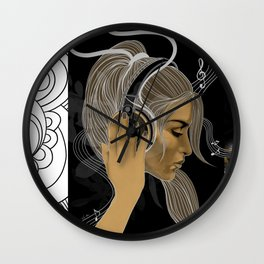 BRAVE SOULS - Music will SAVE Us Wall Clock