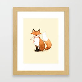 Fox . watercolor painting Framed Art Print