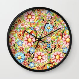 Boho Chic Millefiori Wall Clock
