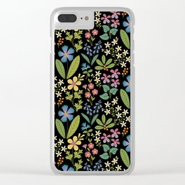 Purple Violets Clear iPhone Case