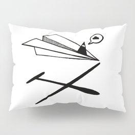 Ninja flies a Paper Plane Pillow Sham