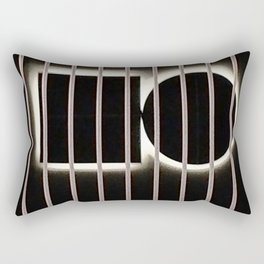 Black and white behind bars Rectangular Pillow