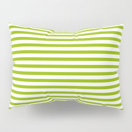 Apple Green & White Maritime Small Stripes- Mix & Match with Simplicity of Life Pillow Sham
