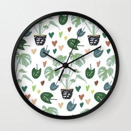 Monstera Delisciosa pot Wall Clock