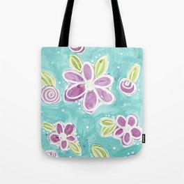 Pastel Floral  Tote Bag