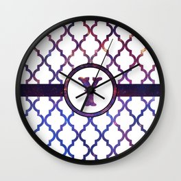 Galaxy Monogram: Letter Y Wall Clock