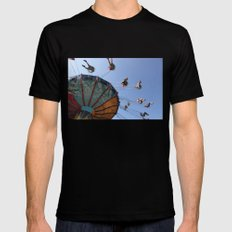 Wheel Black SMALL Mens Fitted Tee