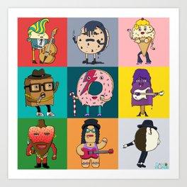 80's Dessert Icons Art Print
