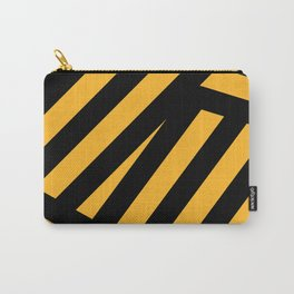 Black and yellow abstract striped Carry-All Pouch