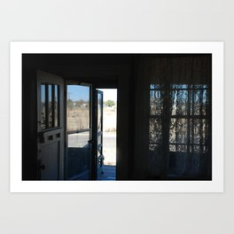A screen door in Marfa, Texas Art Print