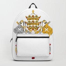 Vatican City Holy See flag emblem Backpack