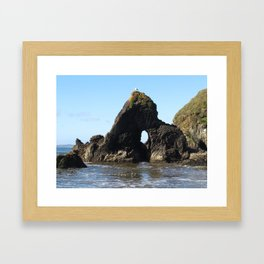 Chilean Beach Framed Art Print