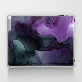 Abstract Ink Painting Deep Purple Green Laptop & iPad Skin