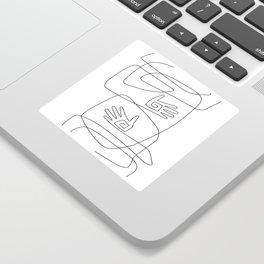 Abstract Hug Sticker