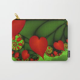 Dancing Red Hearts Fractal Art Carry-All Pouch