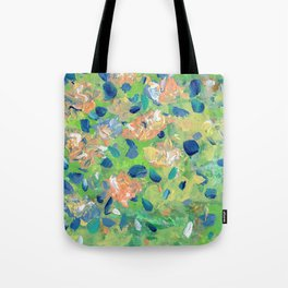Just Because - Abstract floral Tote Bag