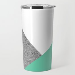 Concrete vs Aquamarine Geometry Travel Mug
