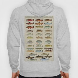 Illustrated Eastern Game Fish Identification Chart Hoody