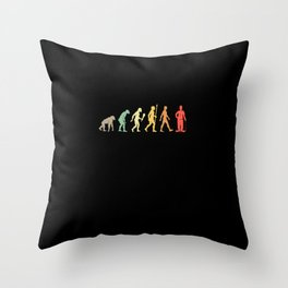 Vintage Comedian Evolution Comedy Gift Idea Throw Pillow