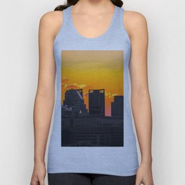 Sunset over Cityscape (Color) Unisex Tank Top
