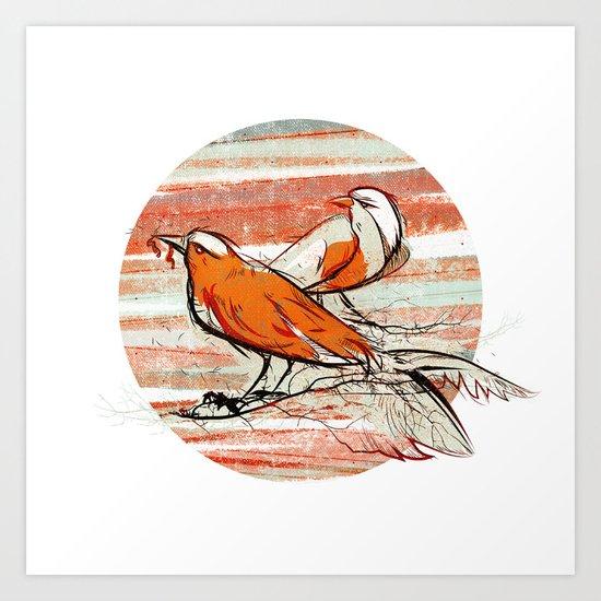 after summer / birds Art Print