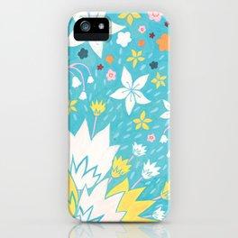 Aqua Lilies iPhone Case