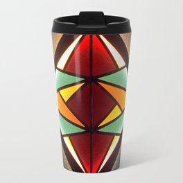 Stained Glass Light Art No.04 Geometric Design Travel Mug