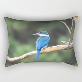 Collared Kingfisher in a Tree Rectangular Pillow