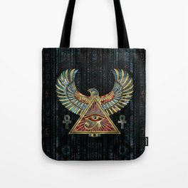 Eye of Horus - Wadjet  Gemstone and Gold Tote Bag