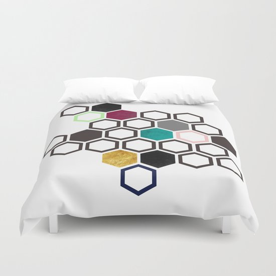 Hexagons Duvet Cover