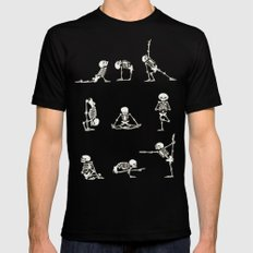 Skeleton Yoga Black X-LARGE Mens Fitted Tee