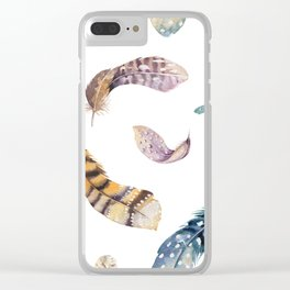 Feather pattern 2 Clear iPhone Case