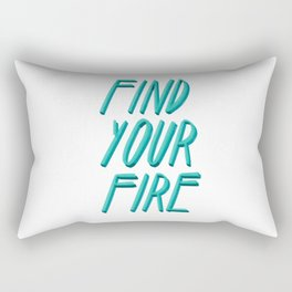 Find your Fire #Blue #Lettering #Type Rectangular Pillow