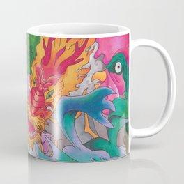Girl and Dragons Coffee Mug