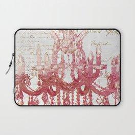 Blush Pink Chandelier Laptop Sleeve