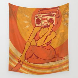 She Goes Boom Wall Tapestry