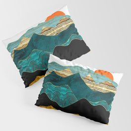 Turquoise Vista Pillow Sham