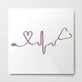 Stethoscope Metal Print