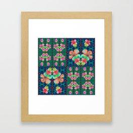 Retro Magic Hawaiian Floral Print Framed Art Print