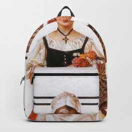 Joseph Christian Leyendecker - Soldier And French Girl - Digital Remastered Edition Backpack