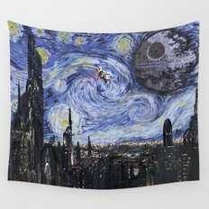 A Starry Wars Night Wall Tapestry