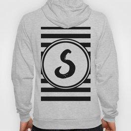 S Striped Monogram Letter Hoody