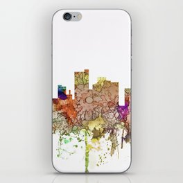 Lubbock, Texas Skyline - Faded Glory iPhone Skin